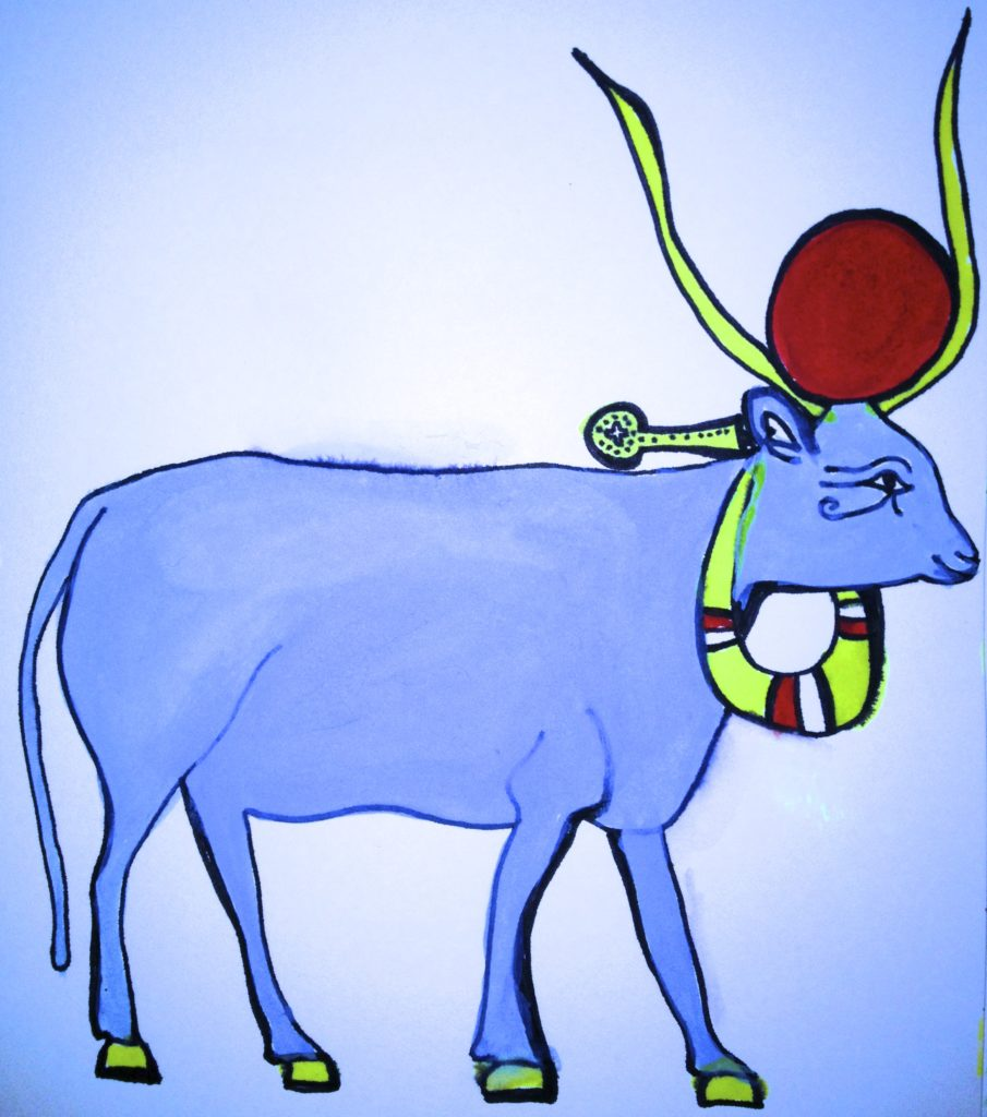 Holy Cow / Water Color & Ink - Jen Taylor 2012